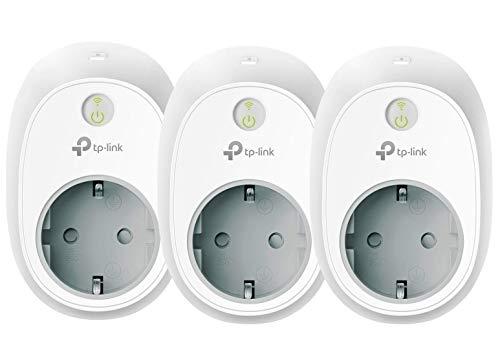 TP-Link Kasa Amazon Alexa zubehör Smart Home WLAN Steckdose HS100 (EU)(funktionieren mit Echo und Echo Dot, Google Home und IFTTT, Fernzugriff, Zeitpläne, Kein Hub erforderlich, Kasa App) 3 pack