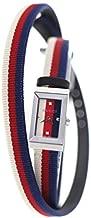 グッチ GUCCI Gフレーム シルヴィライン 腕時計 YA147502 Gフレーム シルヴィライン シルバー 白 赤 青 ステンレススチール ナイロン サファイヤガラス レディース [並行輸入品]
