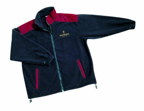 Browning Uni Fleece Jacke, ATM.aktiv, schwarz-rot, XL, 8949003