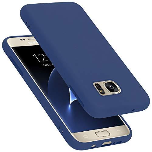 Cadorabo Custodia per Samsung Galaxy S7 in LIQUID BLU - Morbida Cover Protettiva Sottile di Silicone TPU con Bordo Protezione - Ultra Slim Case Antiurto Gel Back Bumper Guscio