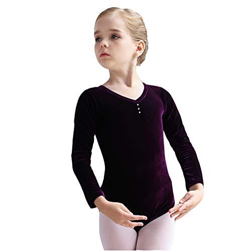 KSITH Kinder Dans Kleding Herfst En Winter Lange mouwen Meisje Ballet Rok Goud Fluweel Meisje Dansende Peuter Praktijk Kleding