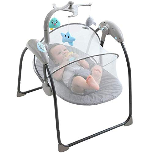 Amazing Deal FTNJG Soothing Portable Swing, Comfort Electric Baby Rocking Chair with Remote, Intelli...