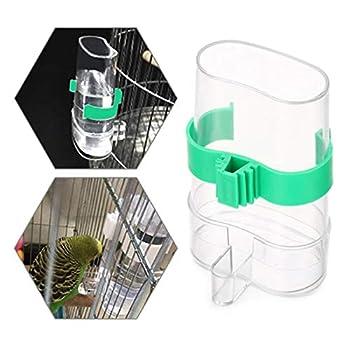 Cage à Oiseaux Distributeur d'eau Abreuvoir Automatique pour Oiseaux Mangeoire à Oiseaux en Plastique Transparent Automatique d'eau pour Oiseaux pour Volière Perruches Calopsittes Perroquets 2 Pièces
