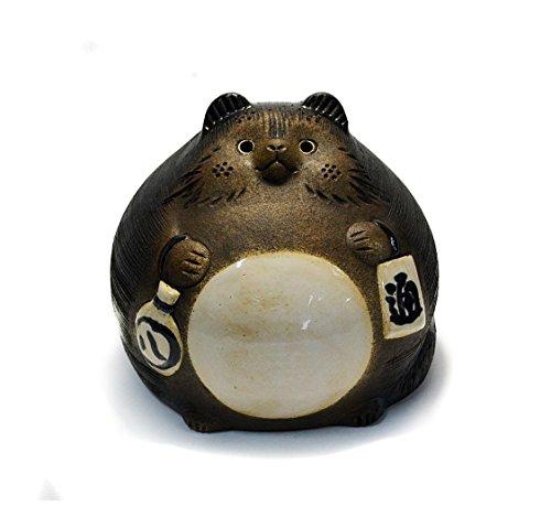 Shigaraki Pottery Japanischer Waschbär-Hund Daifuku Tanuki SA15-10