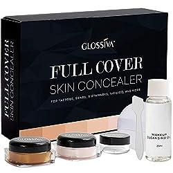 in budget affordable Grossiva Tattoo Concealer-Skin Concealer-Waterproof-For darkening, scars, vitiligo, etc …