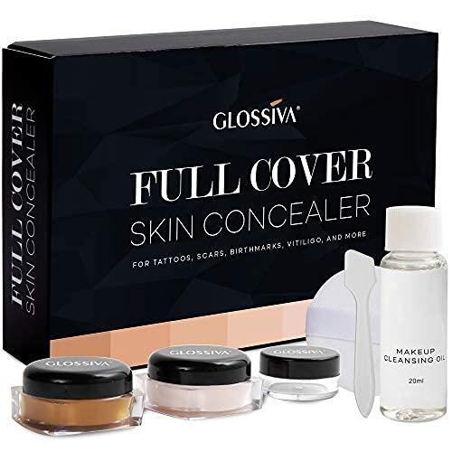 Glossiva Tattoo Concealer - Skin Concealer - Waterproof - For...