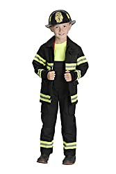 Child Black Junior Firefighter Costume