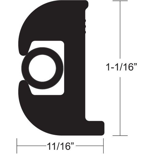 "Boating Accessories New Flexible Vinyl Rub Rail Kit Taco Metals V11-0809bbk70-2 Black/Black 1-1/16"" H x 11/16"" W x 70' L -  TACO Marine"