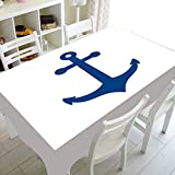 XXDD Cubierta de Mesa de Comedor Rectangular Impermeable Simple Mantel a Rayas Azules y Blancas Mantel Lavable a Prueba de Polvo A4 150x210cm