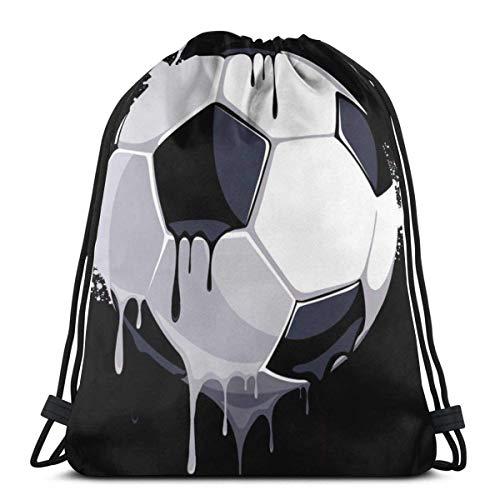 LREFON Gimnasio Bolsas con cordón Mochila Fútbol Pintura Sackpack Tote para almacenamiento de viaje Organizador de zapatos Ahorro de compras Adultos