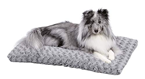 Plush Dog Bed | Ombre Swirl Dog Bed & Cat Bed | Gray 29L x 21W x 2H...