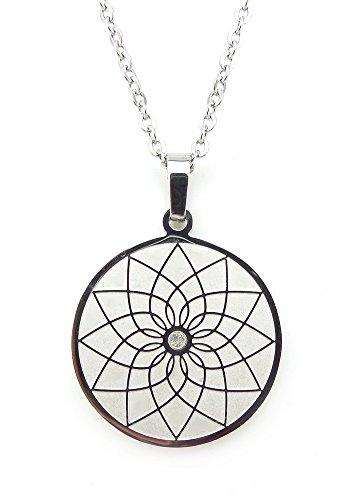 Magnetschmuck Halskette Traumfänger Amulett indianischer Stil Energetix 4you 2799 Dreamcatcher mit Swarovski Element und Kette