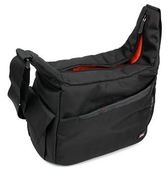DURAGADGET Durable Shoulder  Sling  Bag in Black & Orange - Compatible with Celestron SKYMASTER 12X60 | SKYMASTER DX 8X56 & SKYMASTER DX 9X63 Binoculars