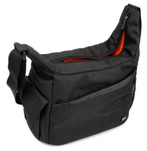 DURAGADGET Mochila Bandolera con Compartimentos Compatible con Cámara Nikon D800 /D800E Bandolera...