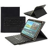 Clavier AZERTY Bluetooth 3.0 Étui Housse pour Tout système Windows Android Tablette PC 9.0-10.6 Pouces Touchpad...