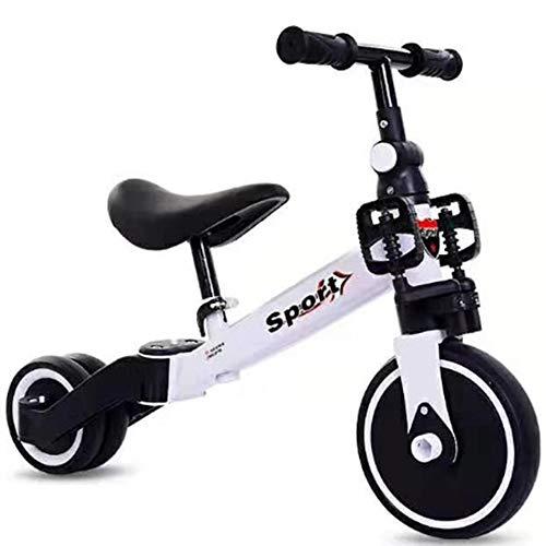 MAGO Kinder Tricycle Scooter, Kinder Laufrads, Zwei-Rad Fahrrad, Motorroller, Babykleinkind Roller, Weihnachtsgeschenke 1-6 Jahre alte Baby- (Color : White without pedals)