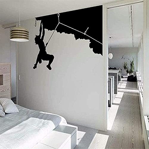 Pegatinas de pared pegatinas de arte y mural silueta de escalada mural papel pintado personal gigante 85x119 cm
