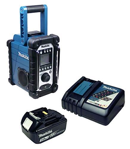 Makita DMR 107 Baustellenradio mit Akku 3 Ah + Ladegerät