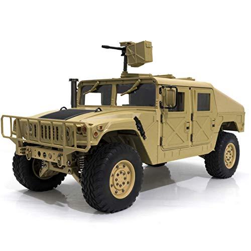 WGFGXQ 1:10 Simulación US4X4 Modelo de camión Militar con Motor de escobillas 550, Coche RC, Camión Militar de Control Remoto 2.4G 4WD 16CH 30km/h Modelo RC Coche -