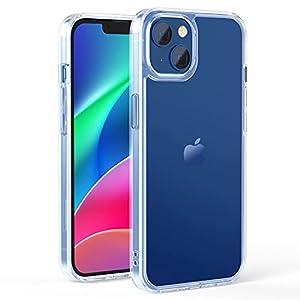 NIMASO ケース iPhone13 iPhone 13 用 カバー 強化ガラス 半透明 ケース マットタイプ 指紋防止 アンチグレア 6.1インチ用 NSC21H310