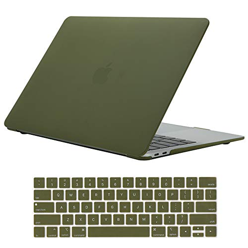Se7enline MacBook Pro 15 inch Case Plastic Hard Shell Protective Laptop Case for MacBook Pro 15-inch with Touch Bar Model A1707 A1990 2016 2017 2018 2019 New with Keyboard Cover Skin, Avocado Green