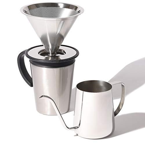 パール金属 コーヒー ドリップポット 390ml 18-8ステンレス製 燕人の匠 HB-8395