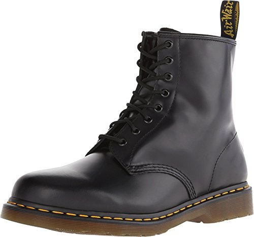 Dr. Martens 1460 Smooth, Stivali Unisex – Adulto, Nero (Black Smooth), 40