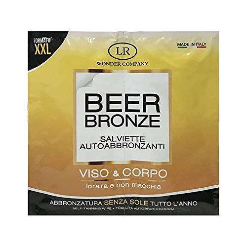 Beer Bronze, Lingettes autobronzantes visage et corps, effet immédiat, sachet qui contient 2 lingettes - LR Wonder Company