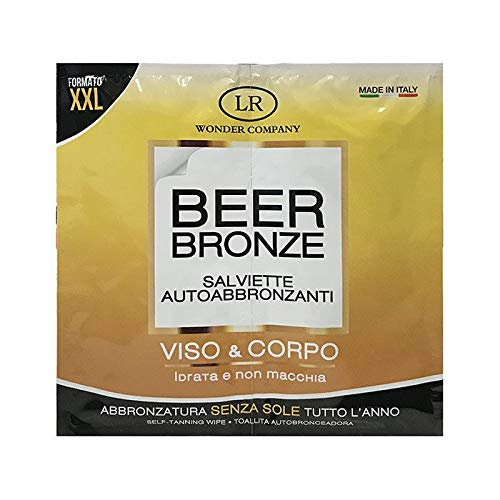 Beer Bronze, 1 bustina da 2 salviettine autoabbronzanti viso e corpo (10 ml) - LR Wonder Company