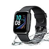 Koogeek Smartwatch,IP68,Reloj Inteligente con Función Esfigmomanómetro y Oxímetro,Pulsómetro,Monitores de Actividad,Compatible con Dispositivos iOS y Android