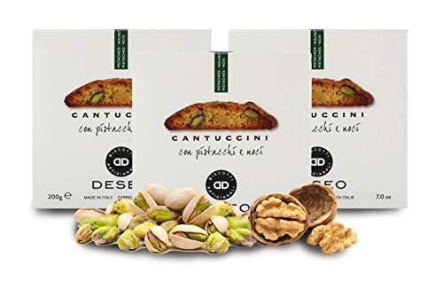 Deseo 3 Confezioni di cantuccini ai pistacchi e Noci,...