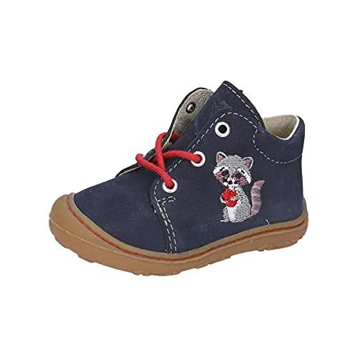 RICOSTA Unisex - Kinder Boots MECKI von Pepino, Weite: Mittel (WMS),terracare,schnürstiefel,Booties,Kinderschuhe,See (184),23 EU / 6 Child UK