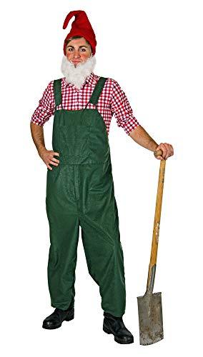 shoperama Herren Kostüm Latzhose Zwerg Gärtner Wichtel Gnom Märchen Garten Wildleder-Optik JGA, Farbe:Grün, Größe:XL/XXL