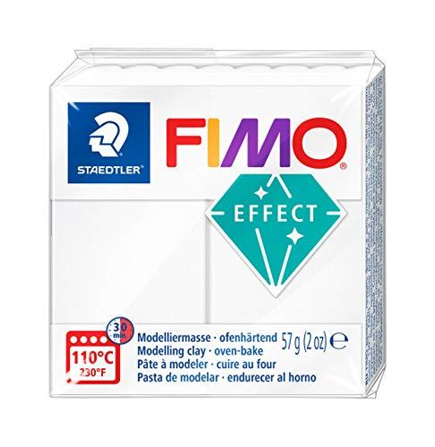 STAEDTLER 8020-014 - Fimo Effect Normalblock, 57 g, weiß transluzent