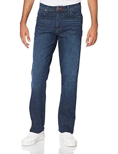 Wrangler Herren Texas Contrast Straight Jeans, Night Break, 36W / 30L