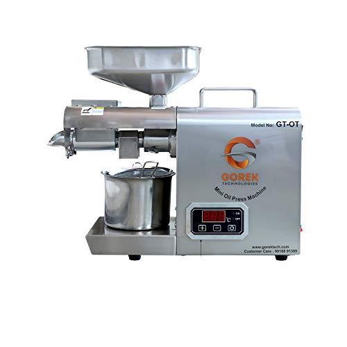 Gorek Technologies GT-OT 600-Watt Oil Press/Maker Machine With Simplified Digital Temperature Controller, Silver