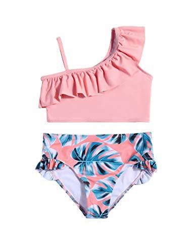 Arshiner Mädchen Badeanzug Bikini Set Kinder Zweiteiliger Bademode Verstellbarer Schultergurt Schwimmen Badeanzüge Meerjungfrau Hawaiian Strand Badebekleidung