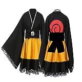 Tokisaki Kurumi Akatsuki Uchiha Itachi Lolita Dresses Kimono Women Dress Anime Cosplay Naruto Costume Girl Fashion Dress (Child-3, XL)
