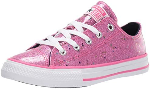 Converse Girl s Chuck Taylor All Star Galaxy Glimmer Sneaker Mod Pink Obsidian White 3 M US product image