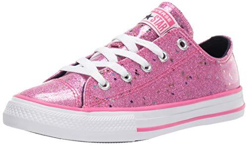 Converse Girls' Chuck Taylor All Star Galaxy Glimmer Sneaker, Mod Pink/Obsidian/White, 3 M US Little Kid