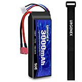 URGENEX 3S Lipo Battery 11.1v 3000mAh 50C RC Lipo Batteries with Dean-Style T Connector for RC Evader BX Car RC Truck RC Truggy RC Airplane UAV Drone FPV RC Helicopter 1 Pack