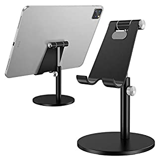 Tablet Stand, Height Adjustable Desktop Stand Holder, 360 Degree Rotating Aluminum Alloy Cradle Mount Dock for iPhone, Samsung, Smartphone & iPad, Tablet etc (4-10'' Screen) (B088B9VLB7) | Amazon price tracker / tracking, Amazon price history charts, Amazon price watches, Amazon price drop alerts