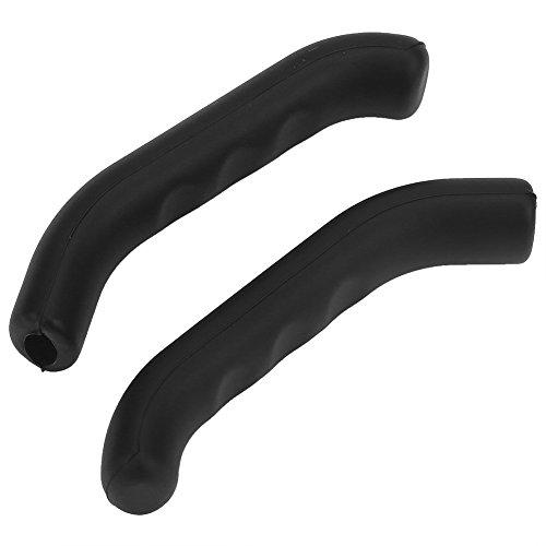 Keenso Protectores para Manetas de Bici, Agarre de Silicona Impermeable para maneta de Freno, Antideslizante (Negro)