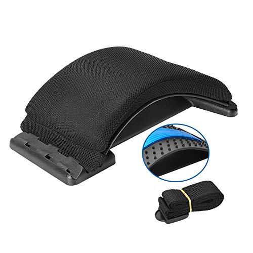 Multi-Level Back Stretcher Device , Lumbar Back Stretching Device, Memory Foam Lumbar Pillow Back Pain Support for Office Chair and Pain Relief