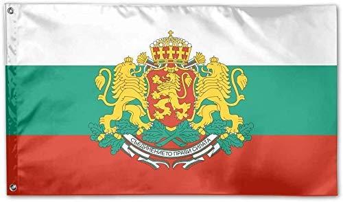 Gsixgoods 3x5 FT Garten dekorative Flaggen Bulgarien Flagge Logo Gartenflagge Banner Flaggen Spiel Jubiläumsdekorationen für Yard House Outdoor Party Supplies