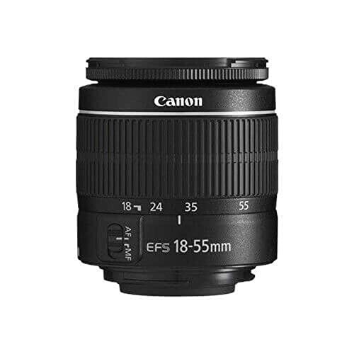Canon EF-S 18-55mm f/3.5-5.6 III Camera Lens (New in White Box) International Model (No Warranty)