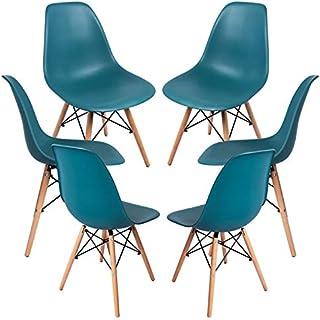Regalos Miguel - Packs Sillas Comedor - Pack 6 Sillas Tower Basic - Verde Azulado - Envío Desde España