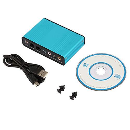 Ballylelly Tarjeta de Sonido USB Externa Profesional Canal 5.1 7.1 Adaptador de Tarjeta de Audio óptico para PC Computadora portátil