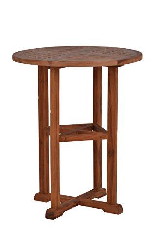 MiaMöbel MiaMöbel Gartentisch 65x80x65 cm Gartenmöbel Outdoor Modern Massivholz Teak Honig