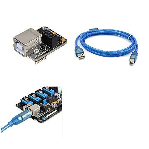 ILS - Lerdge USB Computer Online Module + 1.5M USB Kabel Voor Lerdge-X Moederbord 3D Printer Deel